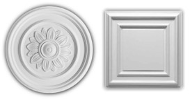 examples of different styles of ceiling roses