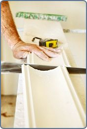 Cutting and fixing coving